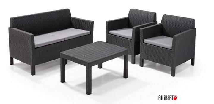 Garten Lounge Set Orlando Allibert