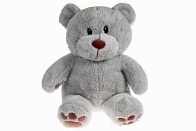 Plüschfigur Bär grau 34cm