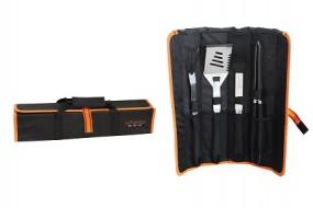 Grillbesteck-Set 4 tlg. Miyako BBQ inkl. Tasche