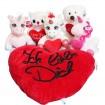 R Bär mit Herz, Katze mit Herz, Einhorn mit Herz, Kissen Ich liebe dich.