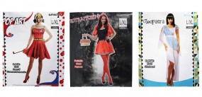 Karneval Kostüm für Da. :Cleopatra, Rotkäppchen, Pop Art