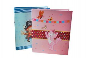 ! R Ringbuch DIN A4 Piraten / Kätzchenmotiv