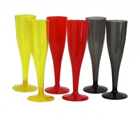 R Champagnerglas aus Kunstoff 6er Pack