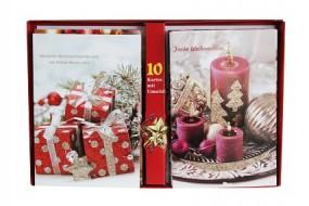 R Weihnachts - & Neujahrskarten 10er Box