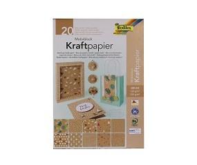 R Kraftpapier und Pastell-Block folia