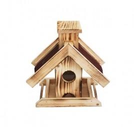 Vogelhaus Futterhaus rotes Dach