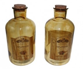 Deko Flasche Apothekerglas Hx16,5cm