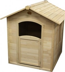 Spielhaus aus Holz, natur