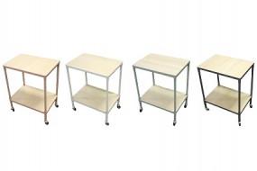 ! Tisch mit Rollen 65x50x35cm 4 Farben
