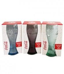 Glas Coca Cola 350ml in 3 versch. Farben