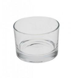 Teelichthalter Ø 8 cm aus Glas