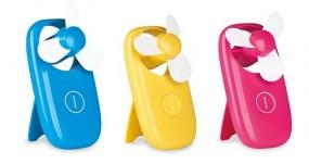 Ventilator Mini in blau, pink, gelb,