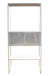 Regal aus Metall Moreno weiß 180x70x35cm