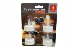 Teelichter LED 4er Blister Pack