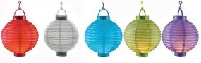 Lampion LED 6 Farben Ø30 cm Kynast Garden