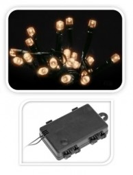 W Lichterkette mit Timer 24 LED