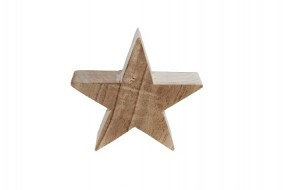 W Deko Stern aus Holz in naturbelassen Hx20cm