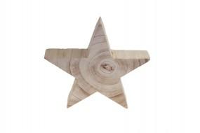 W Deko Stern aus Holz in naturbelassen Hx25cm
