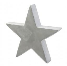 W Deko Stern aus Beton klein 24,5x23,5x4 cm