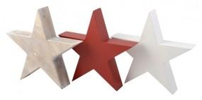 W Deko Stern aus Holz Hx27 cm