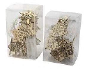 W Lichterkette Mini Holzfiguren 10 LED im Display