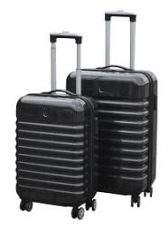 Koffer - Trolley 3tlg Set Polycarbonat schwarz