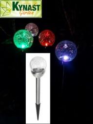 Solar Glaskugellampe mit Farbwechsel 4er Pack Ø 7cm