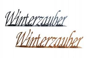 W Kerzenhalter Winterzauber 73x10x20 cm, rost/grau-washed