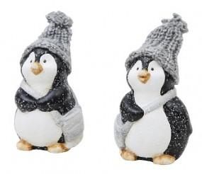 W Pinguin mit Strickmütze H x 11,5 cm