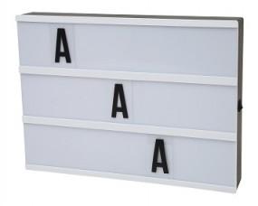 Leuchtbox LED mit 85 Buchstaben