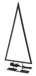 W Metallbaum Design 120 LED 47 cm, schwarz