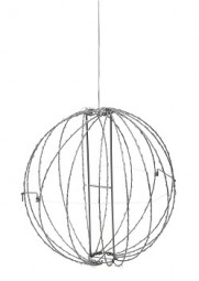 W Metal Ball 320 LED, silber