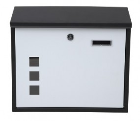 Briefkasten mit Fenster schwarz/weiß
