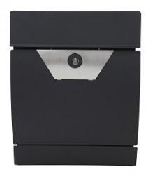 Briefkasten mit Edelstahlapplikation matt-schwarz