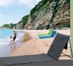 SO Strandstuhl,- matte mit Rückenlehne in 3 Farben