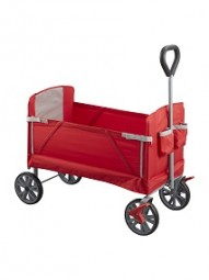 Bollerwagen faltbar Premium, rot