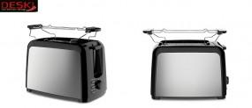 Toaster 750 W Edelstahl-schwarz