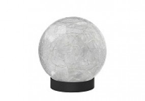 Solar Glaskugel Tischlampe mit Batterie und Timer 2er Pack