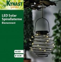 Solarleuchte Bienennest 18 LED, schwarz