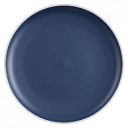 Steingut Teller 27 cm, dunkelblau