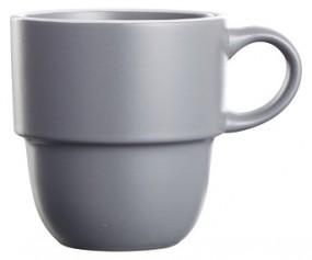 Steingut Kaffeebecher 36 cl, grau