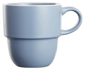 Steingut Kaffeebecher 36 cl, blau