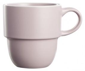 Steingut Kaffeebecher 36 cl, rosa