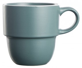 Steingut Kaffeebecher 36 cl, dunkelgrün