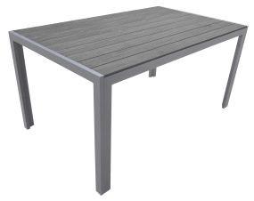 Gartentisch 150x90cm silber/virgin dark