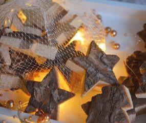 W Deko Holzfiguren Mini 9er im Netz