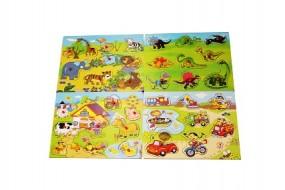 ! Puzzle aus Holz für Kinder 4 Sorten