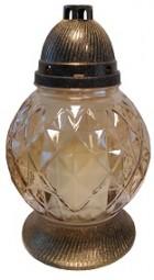 Grabkerze Glas 350g - goldig