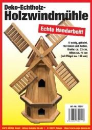 Holz Windmühle 6-eckig, hell gebeizt
