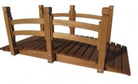 Holzbrücke mit Geländer Kiefer